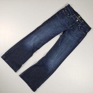 7 For All Mankind Dojo Wide Leg Jeans Size 26